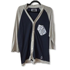WON Woolf Originals NY Blue Grey Button Cardigan